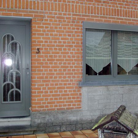 Porte PVC Argon, vitrage chinchilla , structuré gris quartz F739